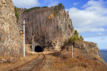 The Circum-Baikal Railway on south lake Baikal
