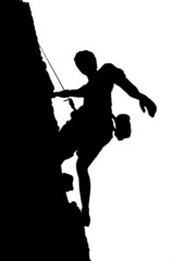Illustration of a climber (silhouette )