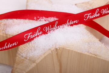 frohe weihnachten - schleifenband