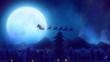 Santa wake up city and light up a Christmas tree