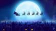 Santa flies over moon and woke up the village
