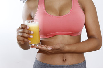 belly and orange juice