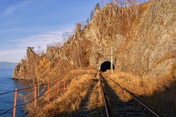 The Circum-Baikal Railway on south lake Baikal