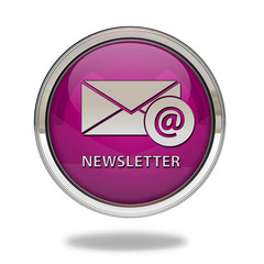 Newsletter pointer icon on white background