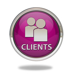 Client pointer icon on white background