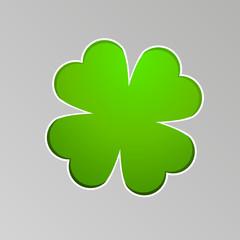 Vector drawing a lucky four-leaf clover