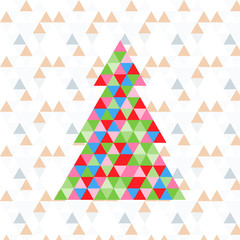 Abstract triangle Christmas tree