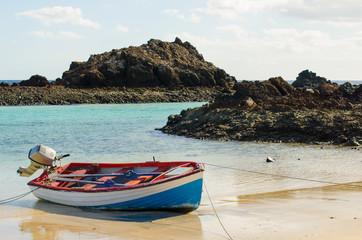 Boat on the sea shore