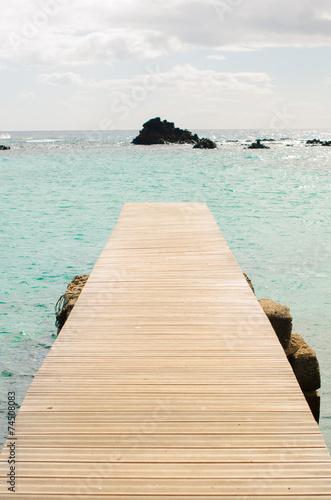 Fototapeta Lobos Island pier