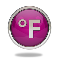 fahrenheit pointer icon on white background