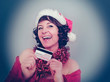 Santa-girl with credit card - christmastime 04
