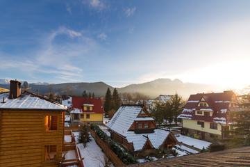 Zakopane in Tatra mountains at winter time, Poland