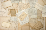 old letters, handwritings, vintage postcards, ephemera poster