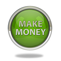 Make money pointer icon on white background
