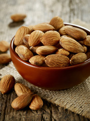 bowl of almond nuts