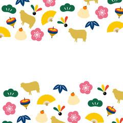 羊 新年 お正月 年賀状 2015年 背景素材