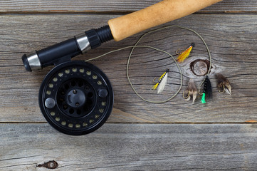 Fly Reel with Assorted Flies