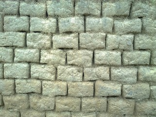 Clay brick wall texture