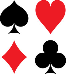 Symbols of playing cards