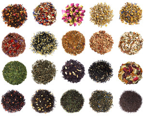 Assortment of dry tea © mbolina
