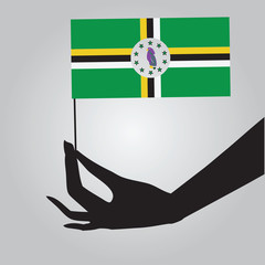 Hand with flag Dominica