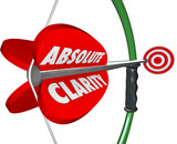 Absolute Clarity Words Bow Arrow Perfect Focus Aim Targeting poster