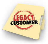 Legacy Customer Words Stamped Folder Loyal Buyer Client File poster