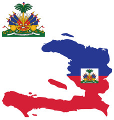 Flag and coat of arms of the Republic of Haiti
