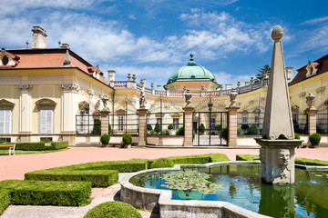 baroque castle Buchlovice, Moravia, Czech republic, Europe