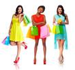 Beautiful women with shopping bags.