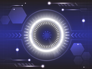 Eye of future technology abstract background