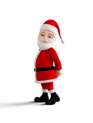 Santa is presenting Merry Christmas