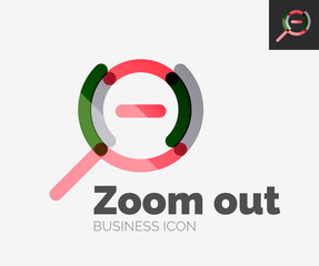 Minimal line design logo, zoom icon