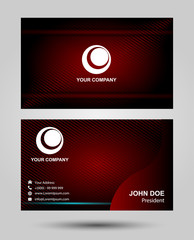 Creative business card design in dark red