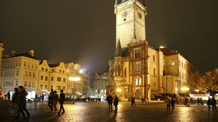 Old Town City Hall in Prague (Night view)