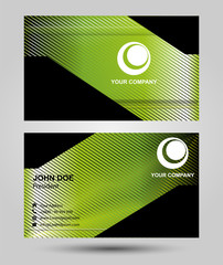 Green business card template design