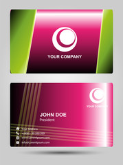 Modern Business-Card Set vector pink