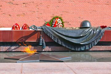Eternal fire in memory of victims in the world war - Kremlin - M