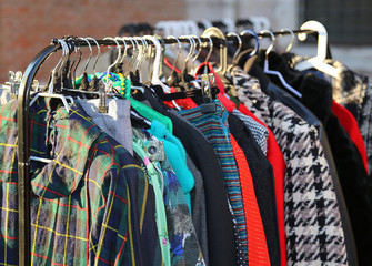 vintage style clothes  for sale at  flea market