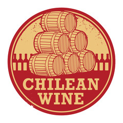 Grunge rubber stamp with words Chilean Wine, vector