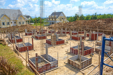 Construction of new home building