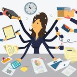 Fototapety Very busy businesswoman