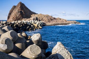 hokkaido utoro harbor at Japan