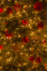 Christmas tree and decorations for the Holidays