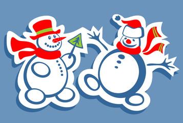 two snowman