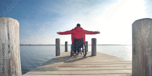 Leinwanddruck Bild morgens am See