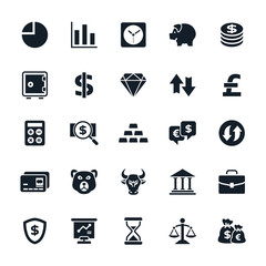 Stock and Finance icons