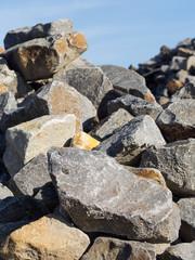 Granit - Granitgestein - Steine - Wasserbau - Baumaterial