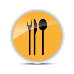restaurant glossy icon vector