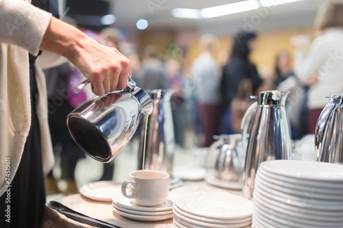Keuken foto achterwand Buffet, Bar Coffee break at business meeting